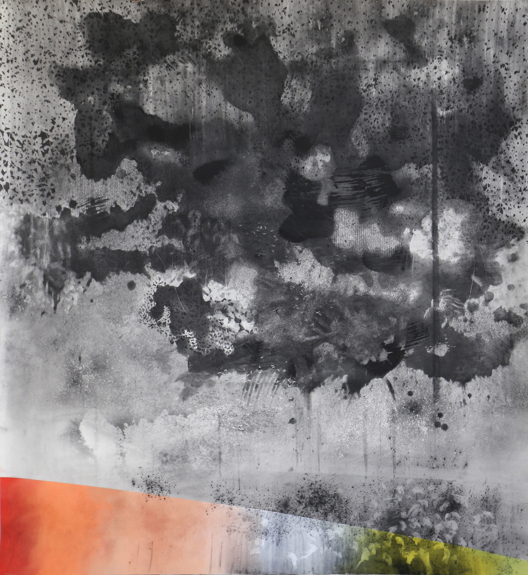 Nora Mona Bach – Besuch, 2020, pastel, charcoal on paper, 220 x 240 cm