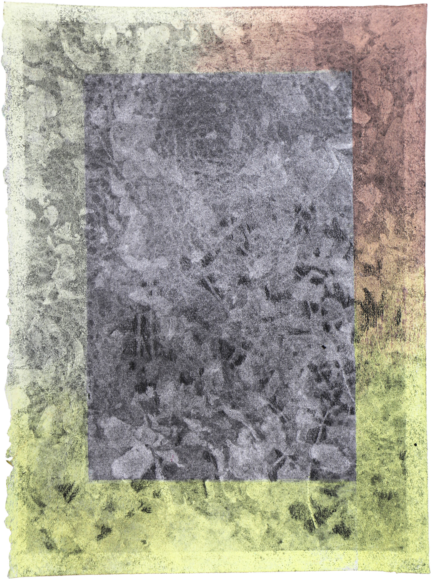 Nora Mona Bach – Einfriedung II, 2020, pastel, charcoal on paper, 39 cm x 29 cm