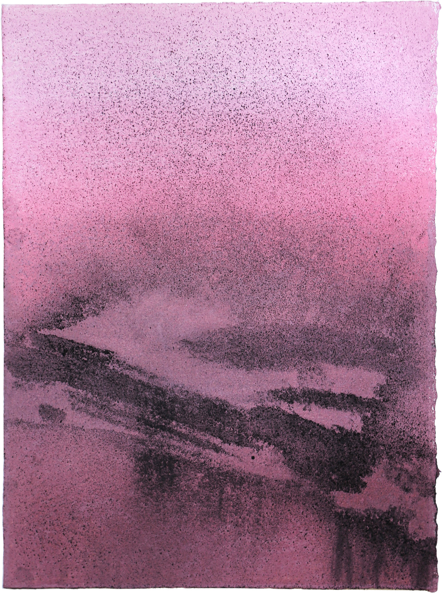 Nora Mona Bach – Gefilde I, 2020, pastel, charcoal on paper, 39 cm x 29 cm