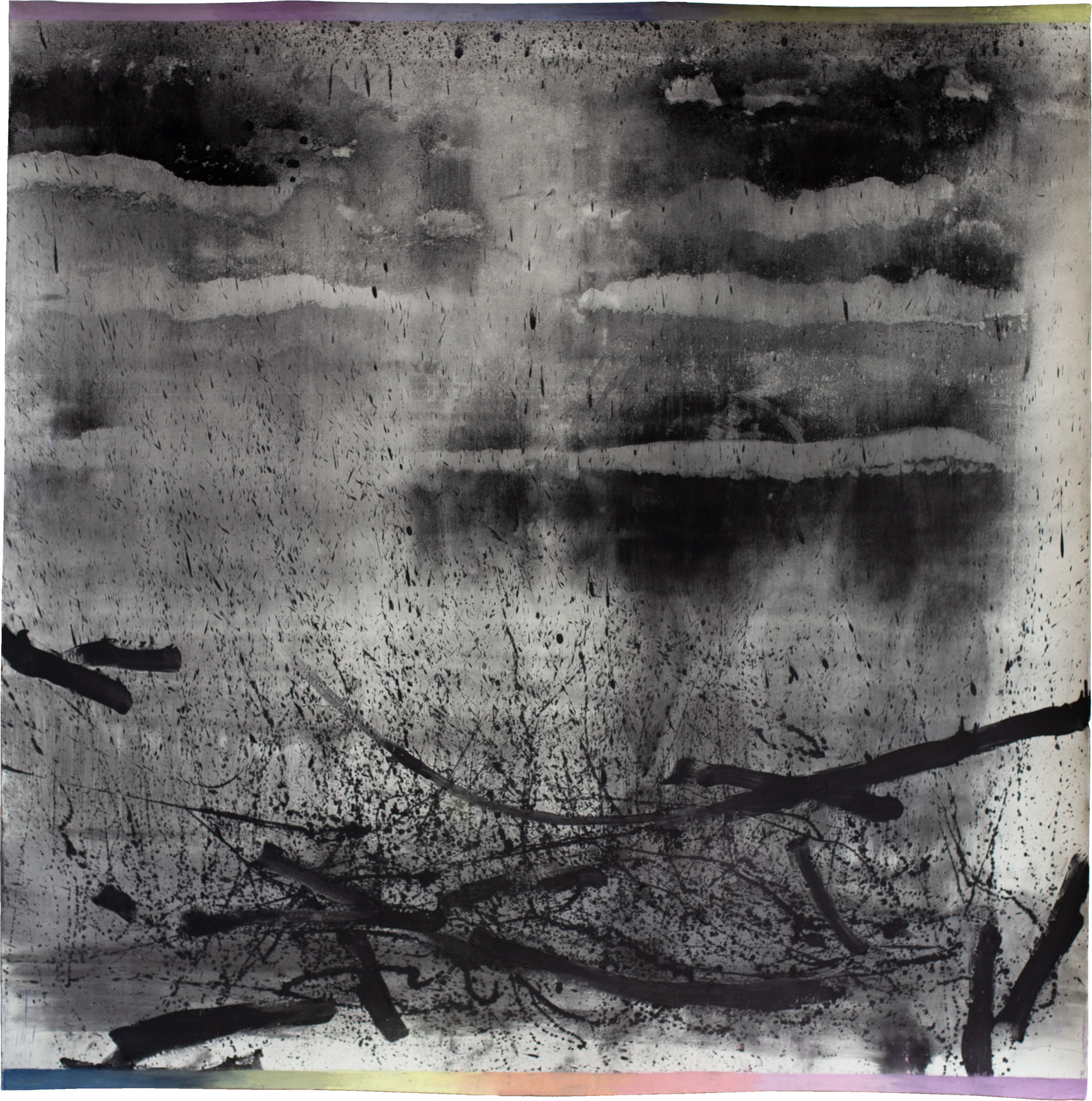 Nora Mona Bach – Weile / Saeculum, 2021, pastel, charcoal on paper, ca. 170 cm x 140 cm
