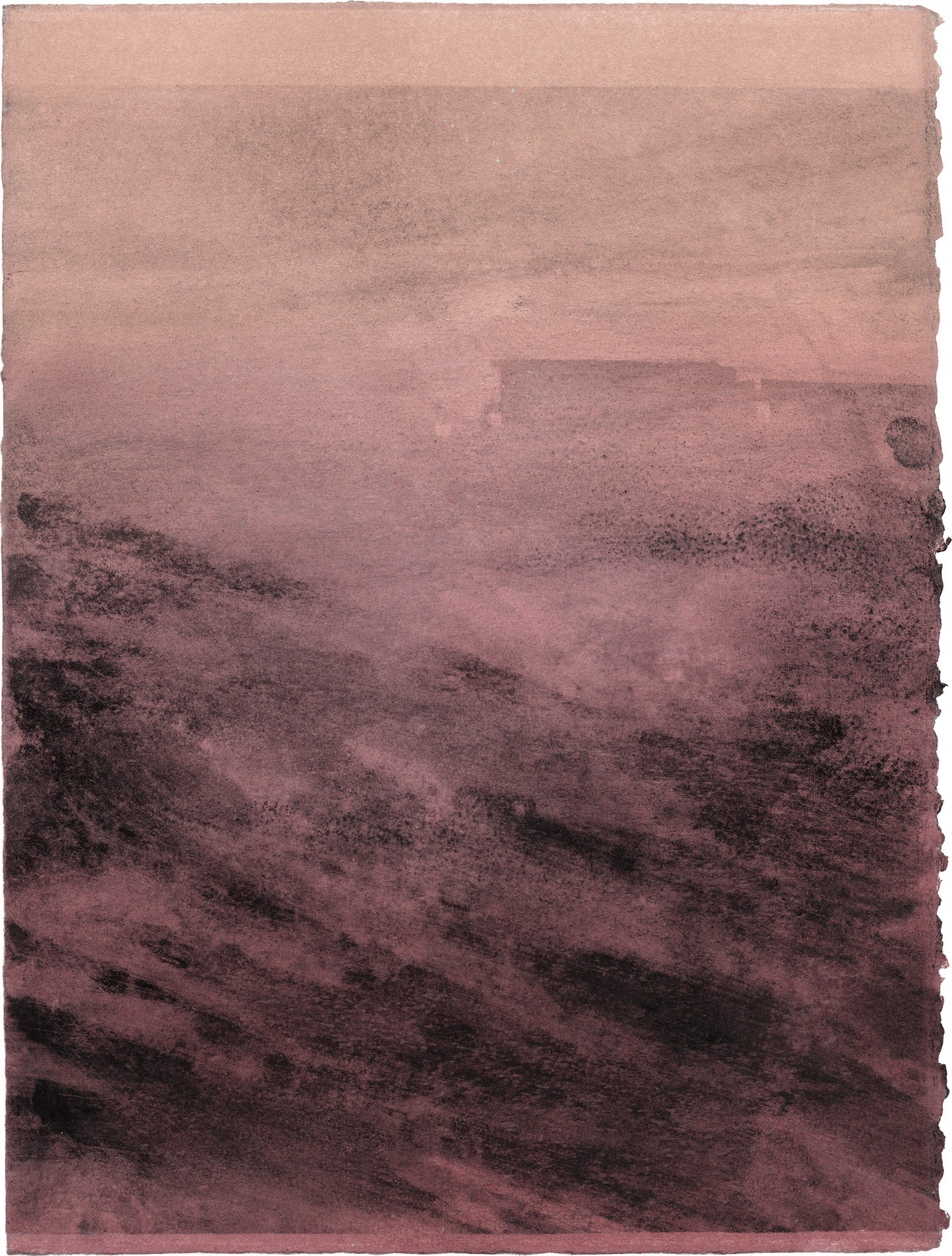 Nora Mona Bach – Weiler, 2020, pastel, charcoal on paper, 39 x 29 cm