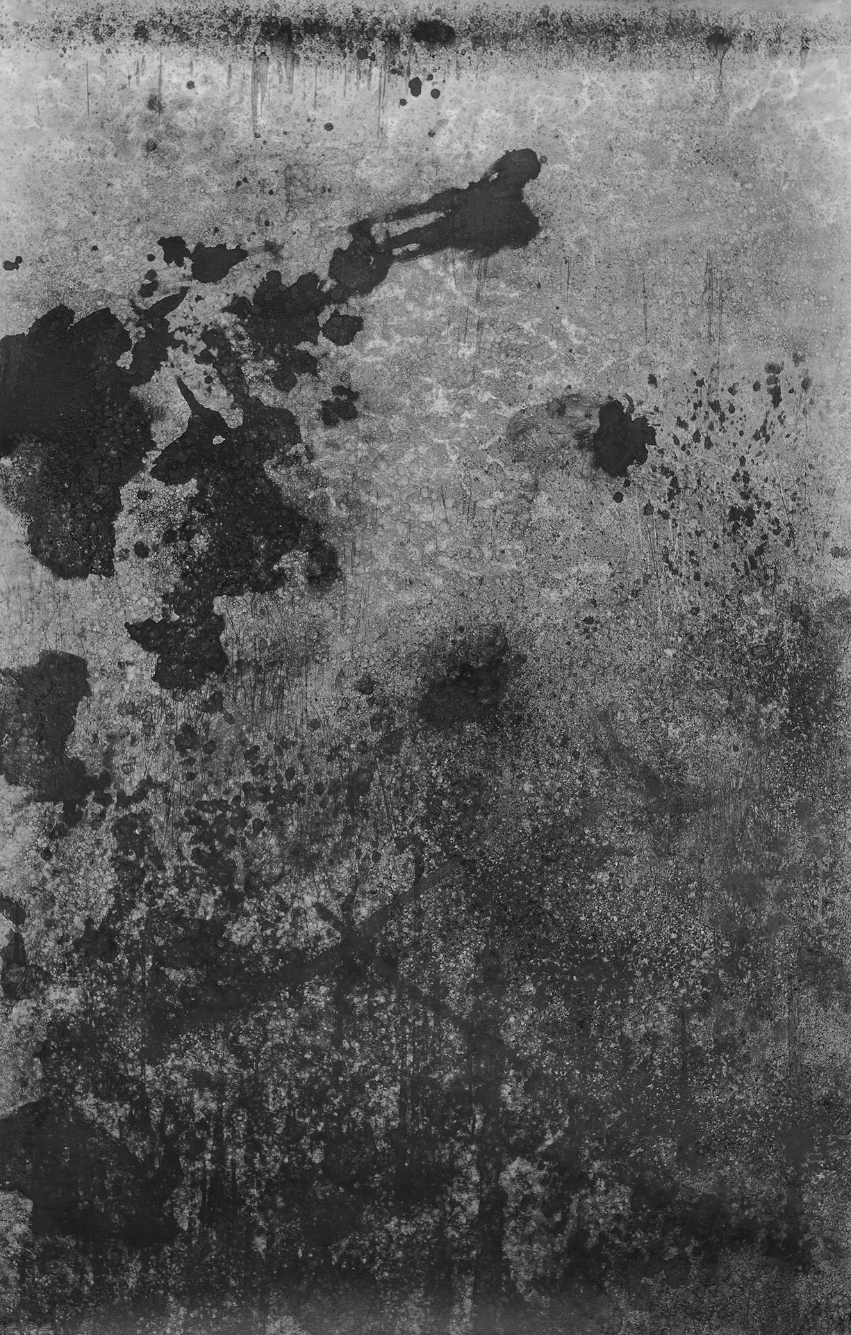 Nora Mona Bach – o. T. (V), 2016, charcoal on paper, 245 x 155 cm