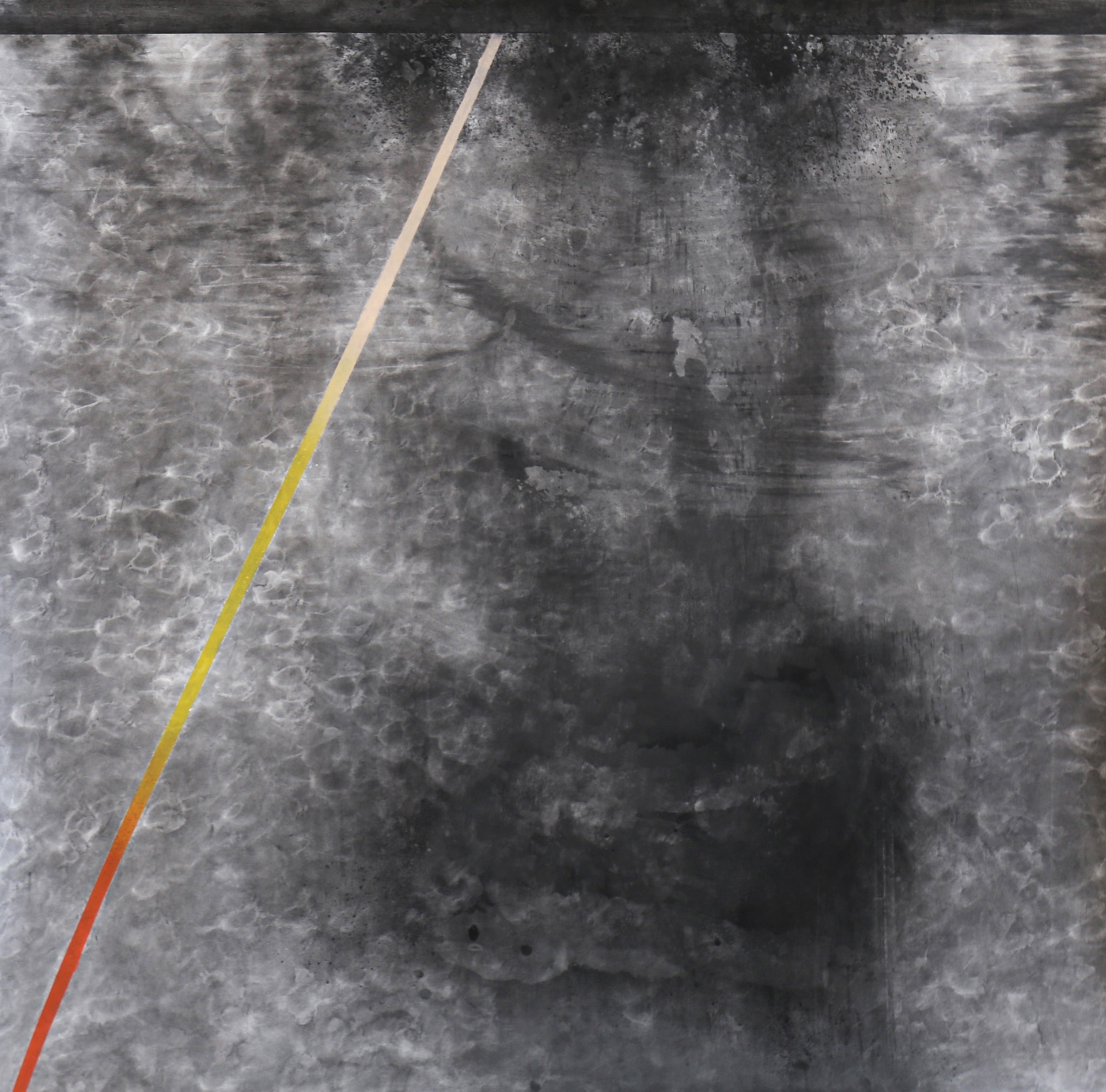 Nora Mona Bach – radiation, 2020, pastel, charcoal on paper, 142 x 140 cm