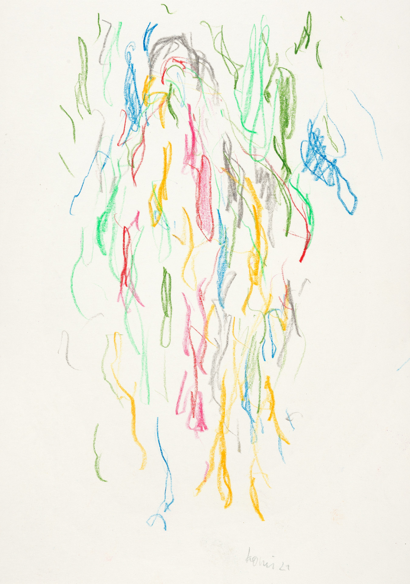 Uwe Kowski –in Farbe, 2021, color pencil on paper, 21 x 14.9 cm